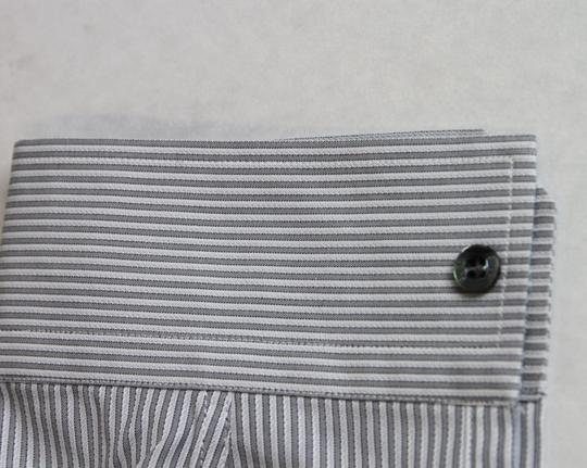 Gucci Grey/White Grey/White Stripe Skinny Formal Dress 42/16.5 307635 1406 Shirt