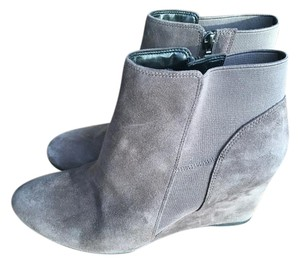 Clarks Wedges Suede Rosepoint Dew Gray Boots