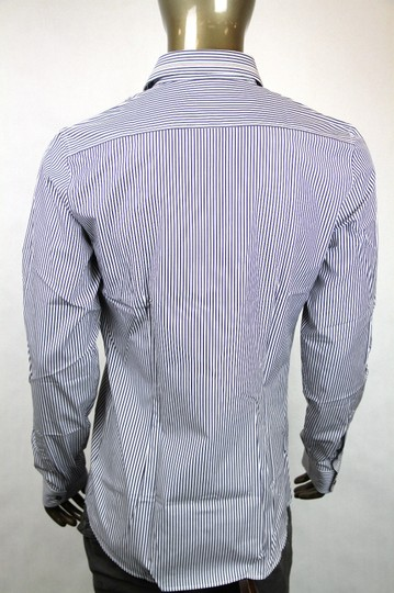Gucci Blue/White Men's Blue/White Stripe Skinny Formal Dress 41/16 307641 9040 Shirt