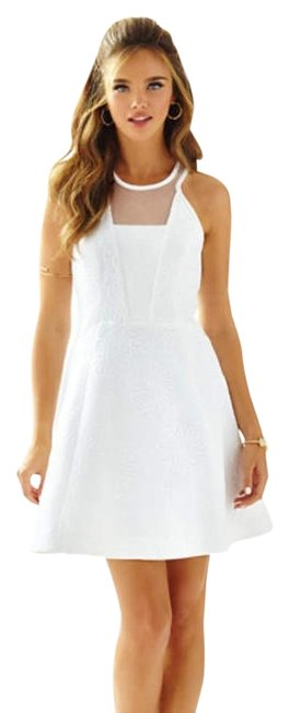 Preload https://item1.tradesy.com/images/lilly-pulitzer-white-elsie-party-short-cocktail-dress-size-10-m-19644225-0-1.jpg?width=400&height=650