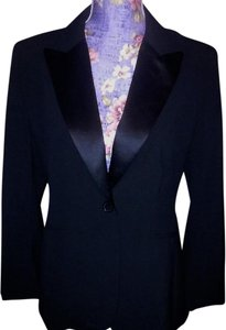 New York & Company Business Satin Premium Black Blazer