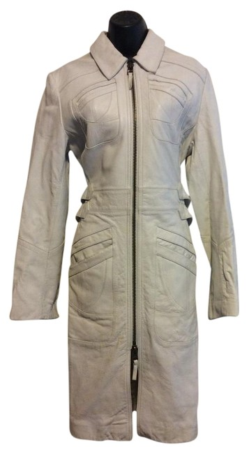 Preload https://item3.tradesy.com/images/express-ivory-leather-trench-coat-size-8-m-19644392-0-1.jpg?width=400&height=650