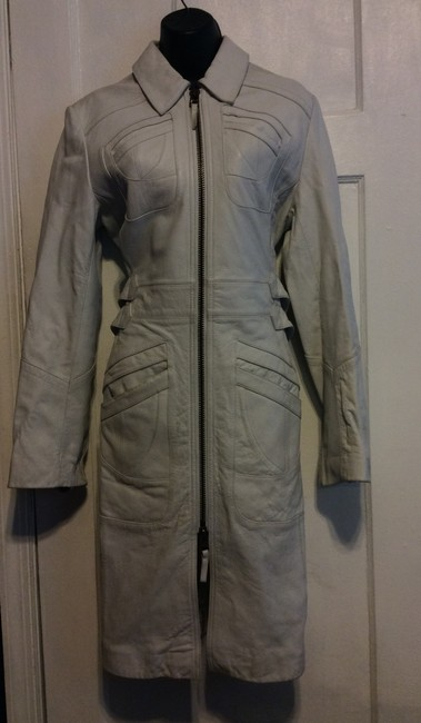 Express Leather Trench Coat