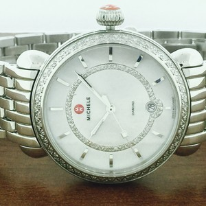 Michele NWT Michele CSX Elegance Silver Stainless Diamond Watch MWW03T000035