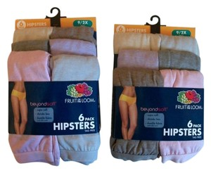 Fruit of the Loom Two Six-Pack Beyond Soft Hipsters Size 9 2X
