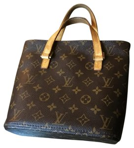 Louis Vuitton Classic Handbag Leather Tote in Brown