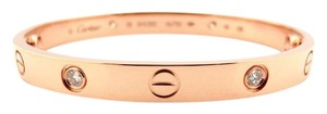 Cartier Cartier 18K Rose Gold 4 Diamonds Love Bracelet Size 19