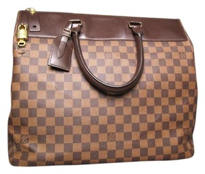 Louis Vuitton Vuitton Damier Canvas Greenwich Travel Brown Travel Bag