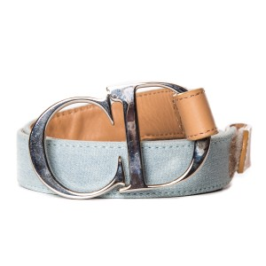 Dior Christian Dior Blue & Tan Belt