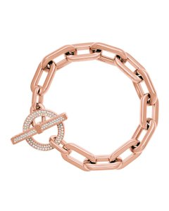 Michael Kors Michael Kors MKJ4865 791 Rose Gold Tone Large Link Toggle Bracelet