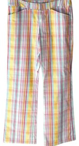 Lacoste Trouser Pants Yellow Plaid