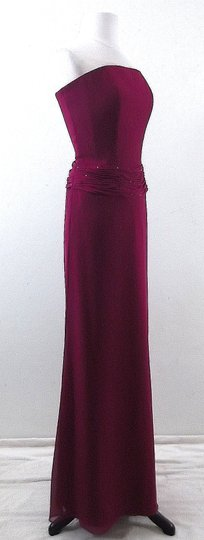 Alexia Designs Fuschia Chiffon Style 403 Formal Bridesmaid/Mob Dress Size 8 (M)