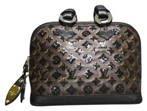 Louis Vuitton Limited Edition Monogram Eclipse Alma Satchel in Black