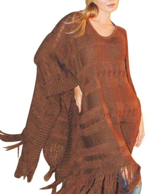 Preload https://item4.tradesy.com/images/chocolate-brown-ponchocape-size-10-m-19644633-0-1.jpg?width=400&height=650