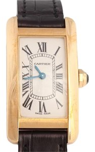 Cartier Ladies 18K Gold Tank Americaine Watch