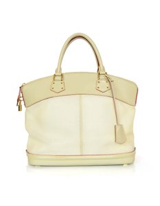 Louis Vuitton Leather Ivory Tote