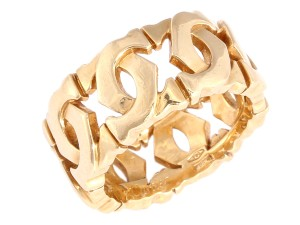 Cartier 18K Yellow Gold Double C Entrelaces Ring