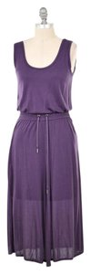Purple Maxi Dress by Helmut Lang Soft Stretchy Scoop Neck