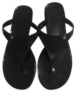 Tory Burch Speer Flip Flops Jelly Flip Flops Black Sandals