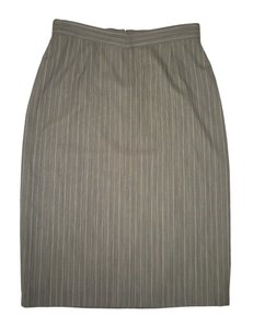 Escada Wool Pinstriped Pencil Skirt