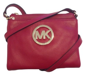 Michael Kors Kate Spade New York Fulton Large Red Cross Body Bag