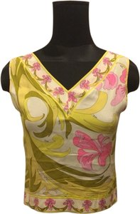 Emilio Pucci Top White Yellow