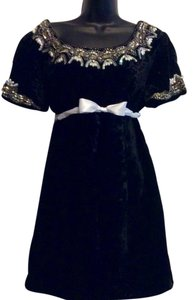 Other Vintage Crushed Velvet Velvet Chanel Inspired Dress