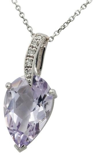 Preload https://item4.tradesy.com/images/pink-486ct-pear-shape-amethyst-on-a-16-14kt-white-gold-chain-necklace-19645548-0-1.jpg?width=440&height=440
