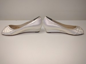 Touch Ups Wedge Satin White Wedding Shoes