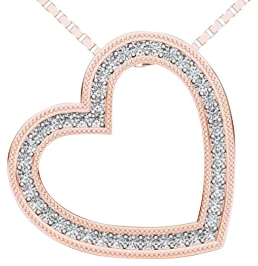 Preload https://item2.tradesy.com/images/10kt-rose-gold-diamond-heart-pendant-necklace-19645626-0-1.jpg?width=440&height=440