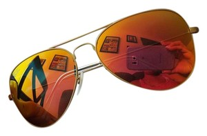 Ray-Ban Ray Ban Aviator Matte Gold w Orange Mirror Flash mirror 55mm