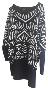 Alfani short dress Black & white Sweater on Tradesy