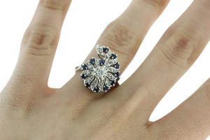 Other Sapphire Diamond Paisley in 14k White Gold September Birthstone