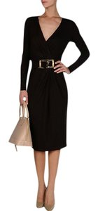 Michael Kors Buckle Longsleeve Jersey Dress