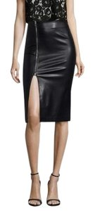 Six Crisp Days Pencil Faux Leather Classic Timeless Sexy Skirt Black