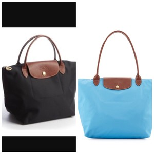 2 Longchamp bags Tote in Black And Blue