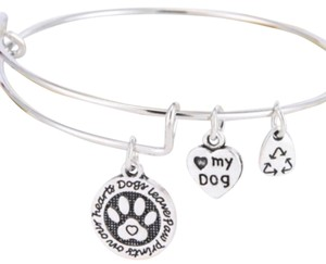 Dogs Leave Paw Prints On Our Heart Bracelet