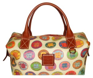 Dooney & Bourke Satchel in creme / multi