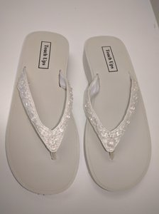 Touch Ups Ivory Wedge Flip Flop Ivory Bridal Flip Flops Wedge Flip Flops Wedding Shoes