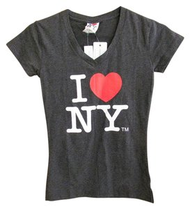 I Love New York T Shirt Gray