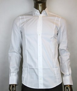 Gucci Men's Button-down Dress Shirt White Fitted 47/18.5 307674 9000