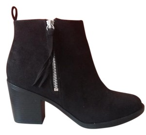 H&M Bootie Chunky Ankle Black Boots