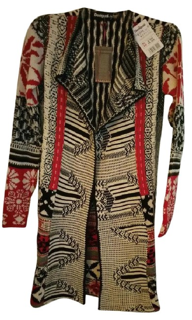 Preload https://item3.tradesy.com/images/desigual-creamblackred-traditionnel-style-47j2l13-ponchocape-size-4-s-19645972-0-7.jpg?width=400&height=650