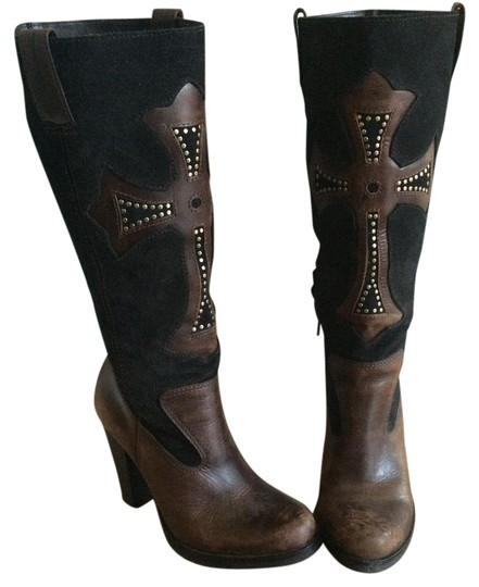 Preload https://img-static.tradesy.com/item/19646008/mia-black-and-brown-bootsbooties-size-us-6-regular-m-b-0-1-540-540.jpg