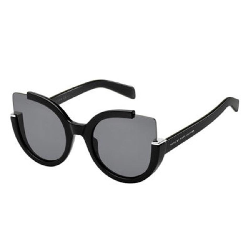 e5011bf9a7 Marc by Marc Jacobs Black Semi-rimless Cat-eye Sunglasses - Tradesy