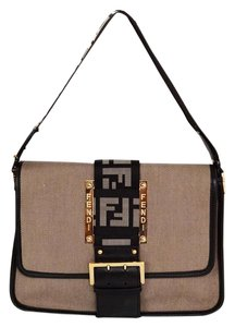 Fendi Handle Zucca Canvas Shoulder Bag