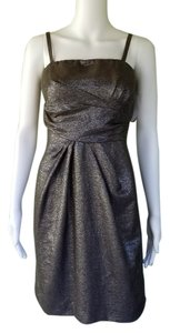 Tahari Cocktail Bronze Sparkle Dress