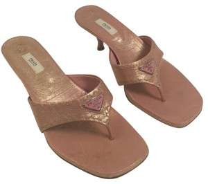 Prada Pink and gold Sandals