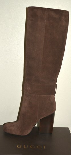 Gucci Leather Suede Cocoa Boots