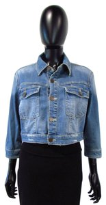BlankNYC Cropped Denim Light Wash Womens Jean Jacket